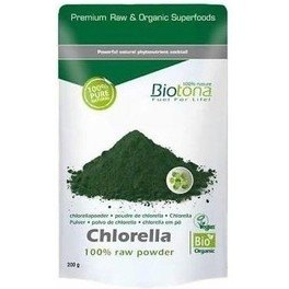 Biotona Chlorella Cruda En Polvo Chlorella Raw Powder 200g