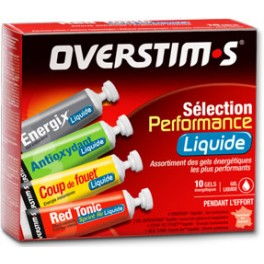 Overstims Performance Selection Liquide 10 geles x 30 gr