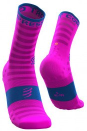 Compressport Calcetines Pro Racing Socks V3.0 Ultralight Run High Fluo Rosa