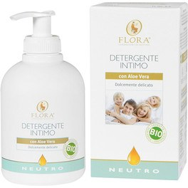 Flora Gel Intimo Neutro Con Aloe Vera 250 Ml