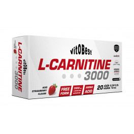 VitOBest L-Carnitina 3000 mg 20 viales x 10 ml