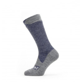 Sealskinz Calcetines Longues All Weather Medios Rojo/gris