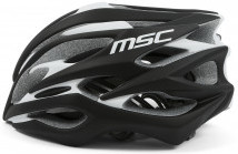 Msc Casco Road Pro Inmold Negro / Blanco
