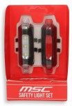 Msc Luz Led De Seguridad Set Blanco / Rojo Rectangular