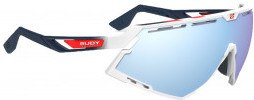 Rudy Project Defender White Gloss / Fade Blue/red Stripes -white  Multilaser Ice