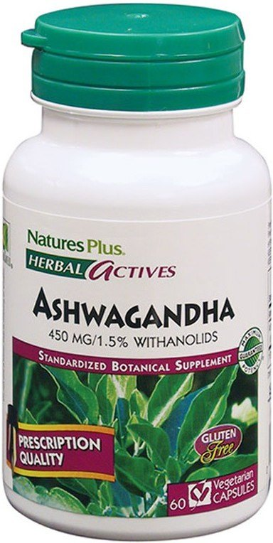 Natures Plus Ashwagandha 450 Mg 60 Caps