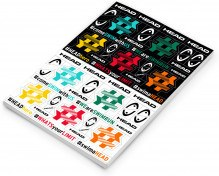 Head Hashtag Stickers 10 Uds