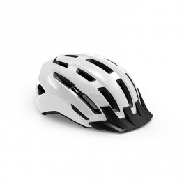 Met Casco Downtown Blanco Brillo