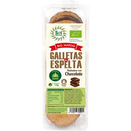 Solnatural Galletas Marias Bañadas Chocolate Bio 170 G