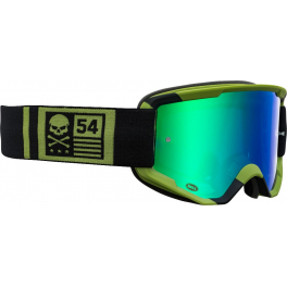Bell Descender Crossbones Matte Green/black Lente: Revo Green Mirror