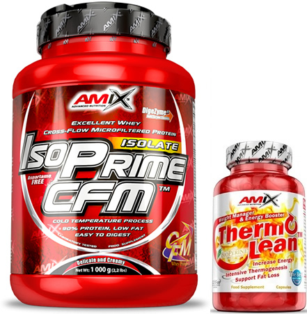 Pack Amix IsoPrime CFM Isolate 1 kg + ThermoLean 30 caps