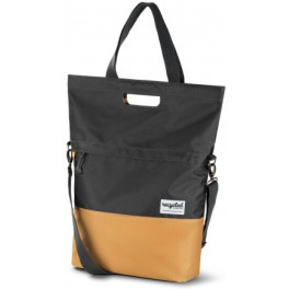 RECYCLED SHOPPER BICYCLE BAG 20L - GREY YELLOW