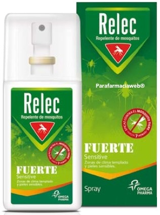 Relec Spray Fuerte Sensitive - Repelente de Mosquitos 75 ml