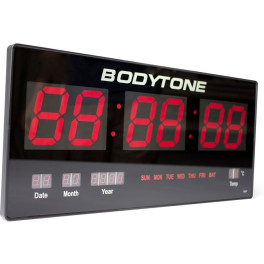 Bodytone Reloj Led De Pared (22 X 46 X 3 Cm)