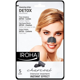 Iroha Detox Charcoal Black Nose Strips 5 Uds Mujer