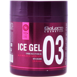Salerm Ice Gel Strong Hold Styling Gel 500 Ml Unisex