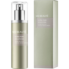 M2 Beauté Ultra Pure Solutions Pearl & Gold Facial Nano Spray 75 Ml Mujer