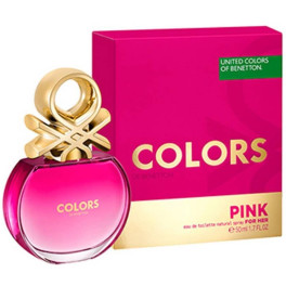 Benetton Colors Pink Eau de Toilette Vaporizador 50 Ml Mujer