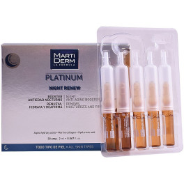 Martiderm Platinum Night Renew Ampoules 30 X 2 Ml Unisex