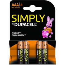 Duracell Simply Aaa4 Pack 4 Pilas Lr03