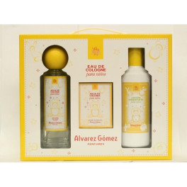 Alvarez Gomez Agua Colonia Spray 300ml Sets + Locion 300ml + Toallitas Perfumadas
