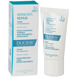 Ducray Keracnyl Repair Cream 48h Of Hydration 50 Ml Unisex