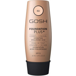 Gosh Foundation Plus+ Cover&conceal Spf15 002-ivory 30 Ml Mujer