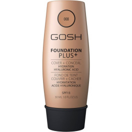 Gosh Foundation Plus+ Cover&conceal Spf15 008-golden 30 Ml Mujer