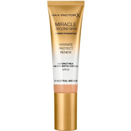 Max Factor Miracle Touch Second Skin Found.spf20 7-neutral Medium 30 M Mujer