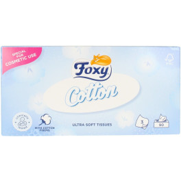 Foxy Facial Cotton Pañuelos Ultra Suaves 90 Uds Unisex