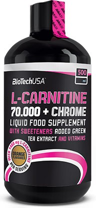 BioTechUSA L-Carnitine+Chrome 70.000 500 ml