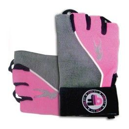 - BioTechUSA Guantes Pink Fit Gloves Gris-Rosa XL