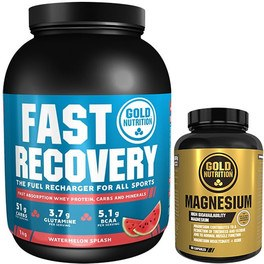 Pack Gold Nutrition Fast Recovery 1 kg + Magnesium 600 mg 60 caps
