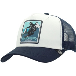 The Indian Face Born To Snowboard White And Blue Gorra