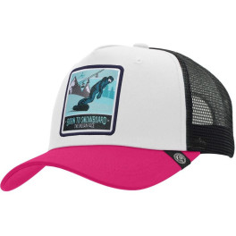 The Indian Face Born To Snowboard White / Pink / Black Gorra