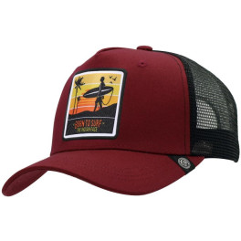 The Indian Face Born To Surf Red / Black Gorra