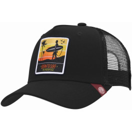 The Indian Face Born To Surf Black Gorra